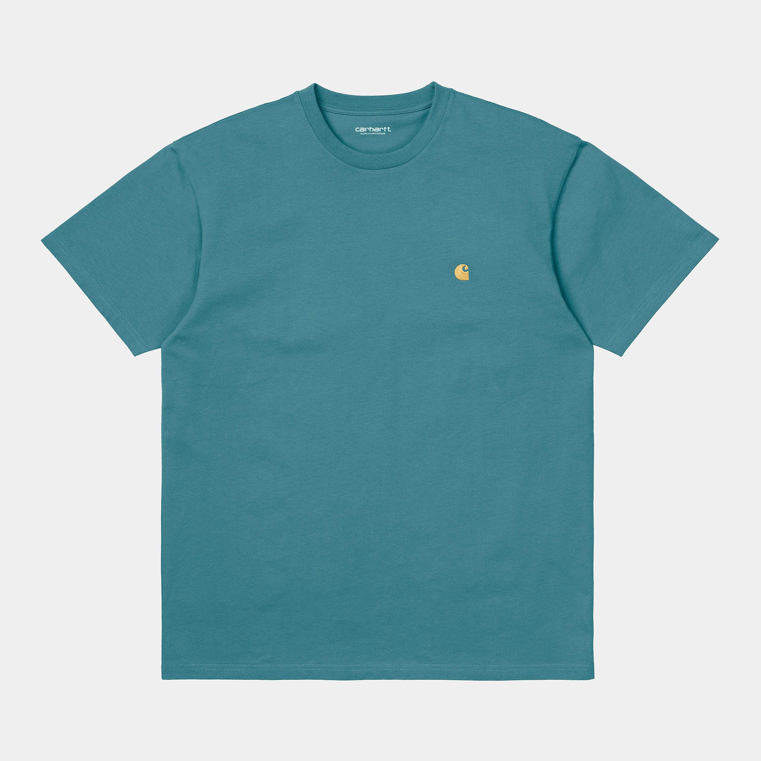 Carhartt WIP - CHASE T-SHIRT - Hydro/Gold