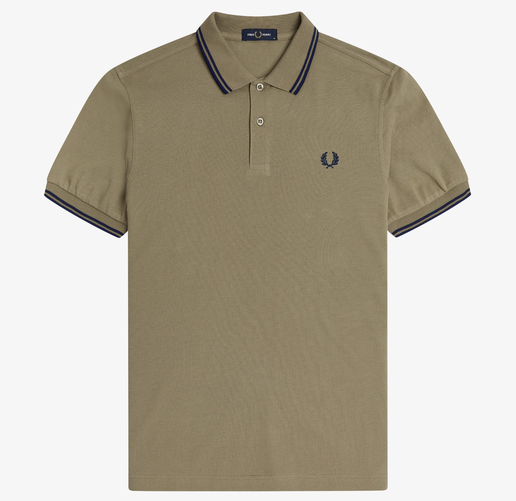 Fred Perry - TWIN TIPPED POLO SHIRT - Sage/French Navy