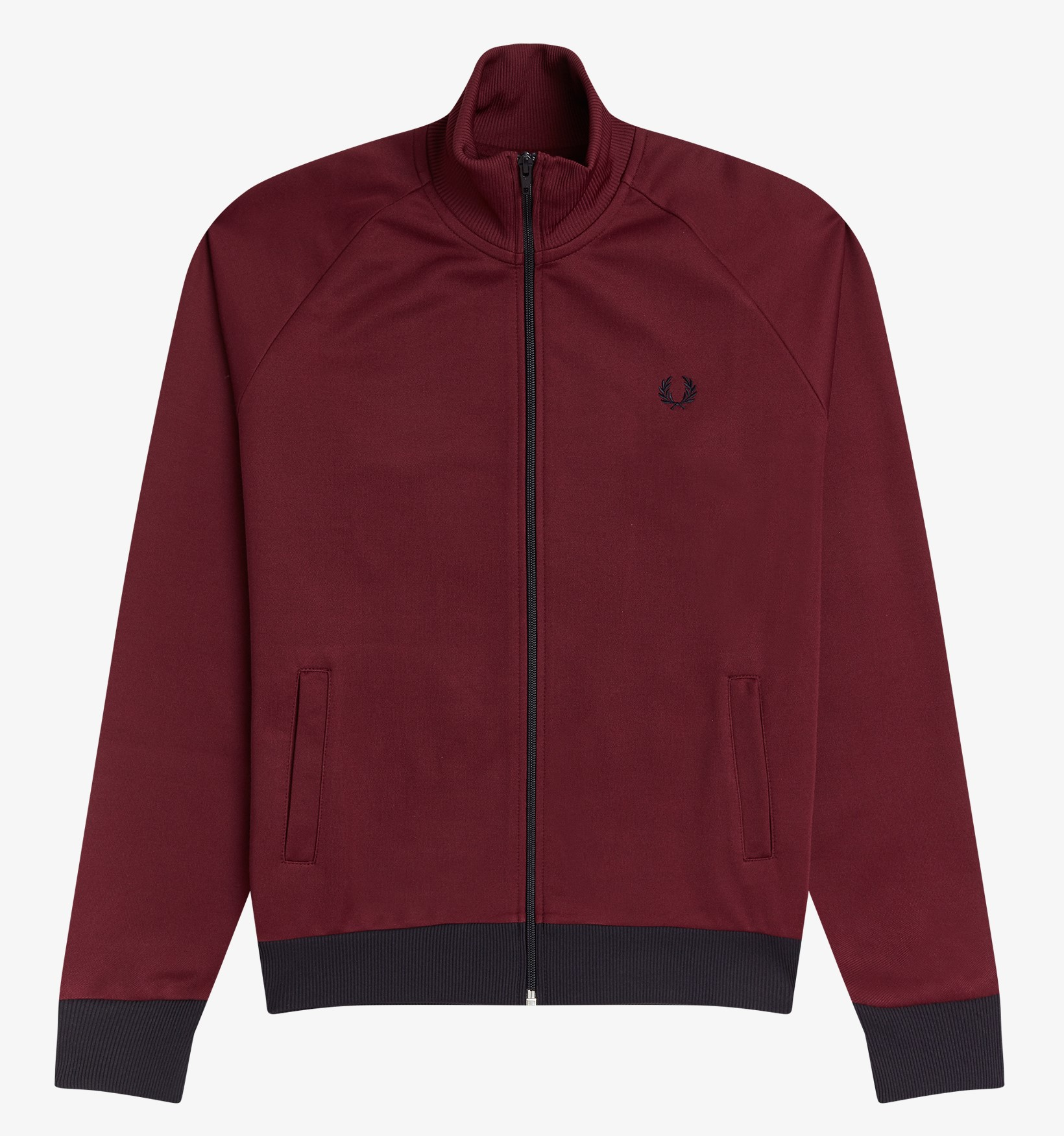 Fred Perry - CONTRAST TRIM TRACK JACKET - Aubergine