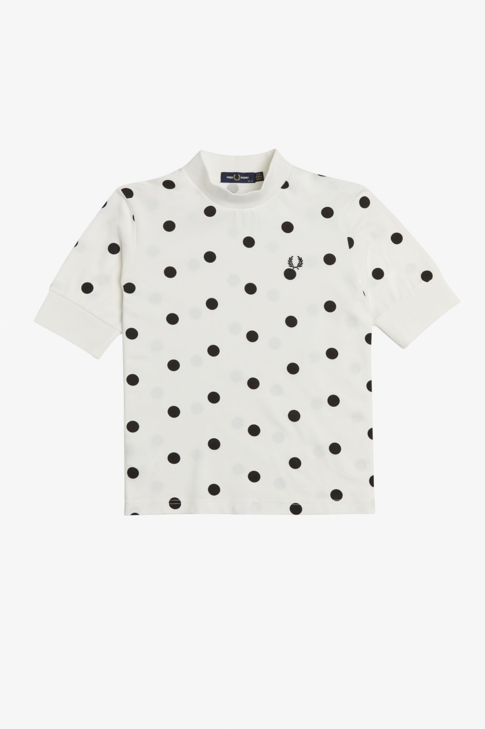 Fred Perry - SPOT PRINT PIQUE - Snow White