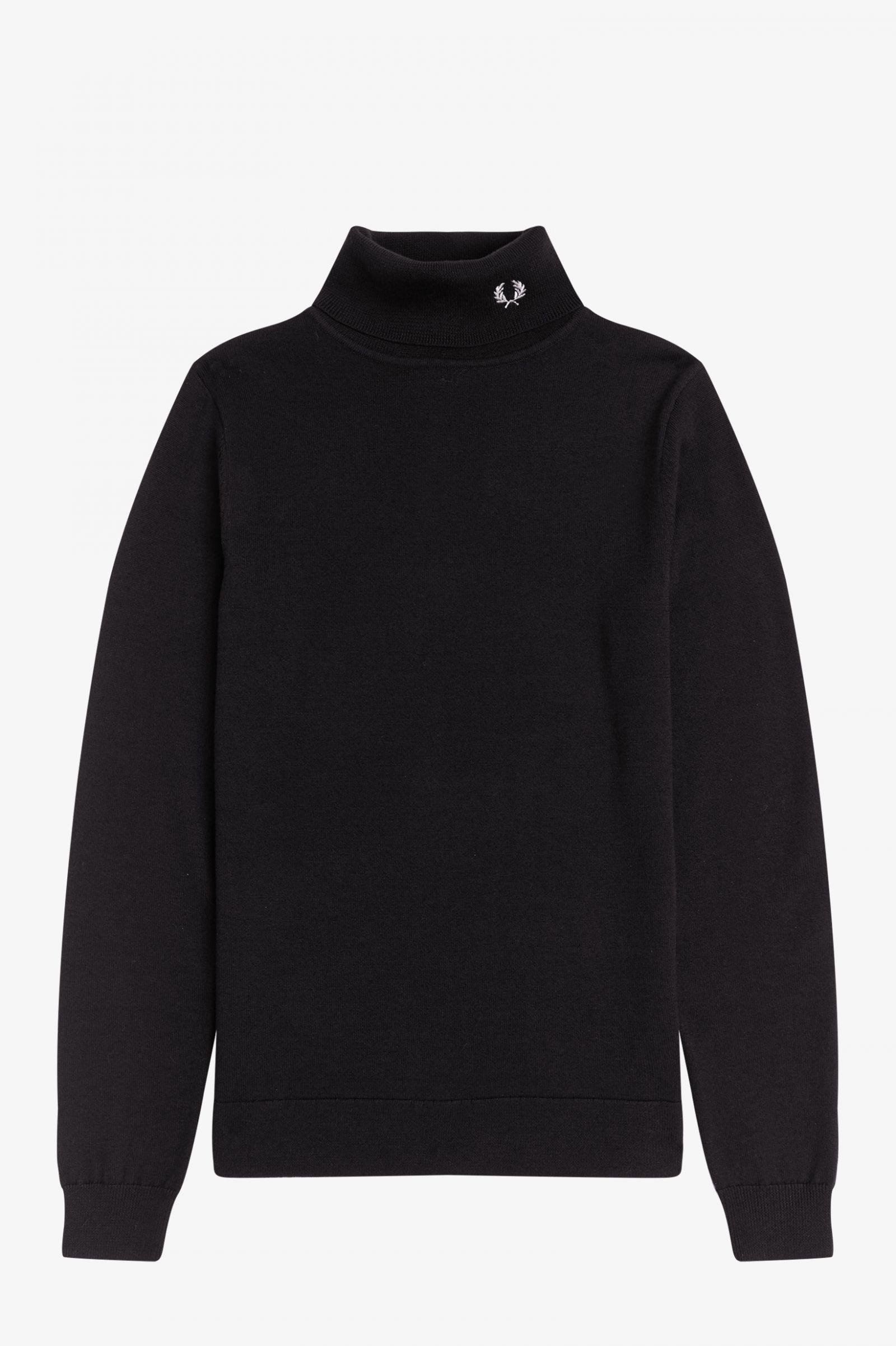 Fred Perry - ROLL NECK KNITTED TOP - Black