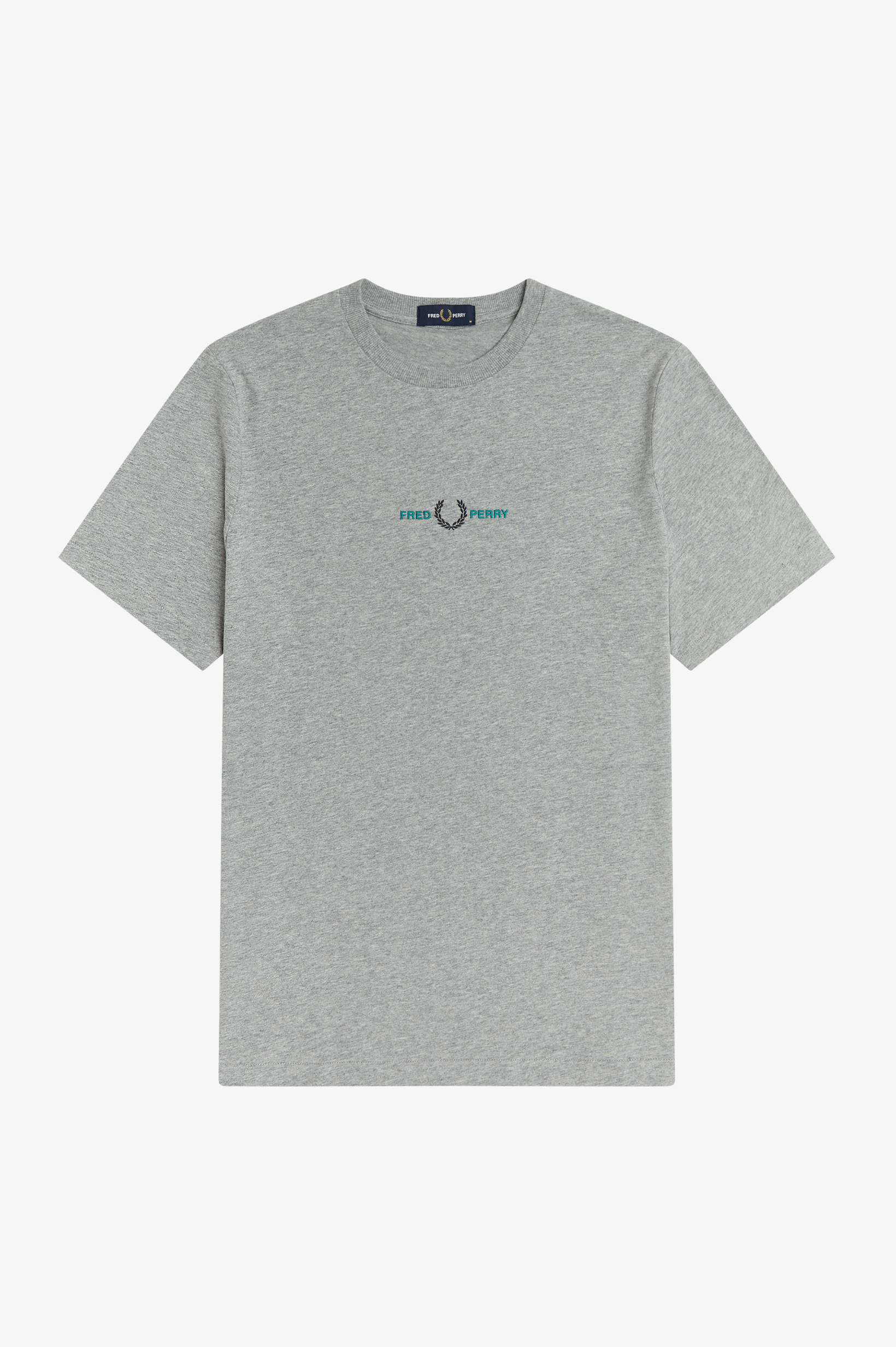 Fred Perry - EMBROIDERED T-SHIRT - Steel Marl