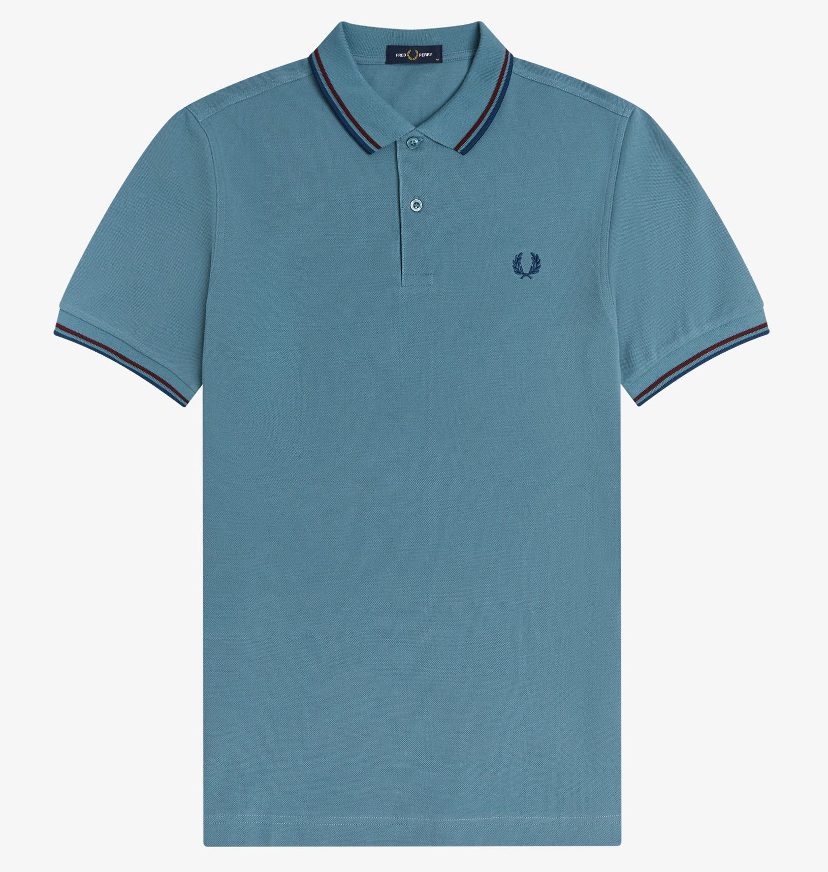 Fred Perry - TWIN TIPPED POLO SHIRT - Ash Blue