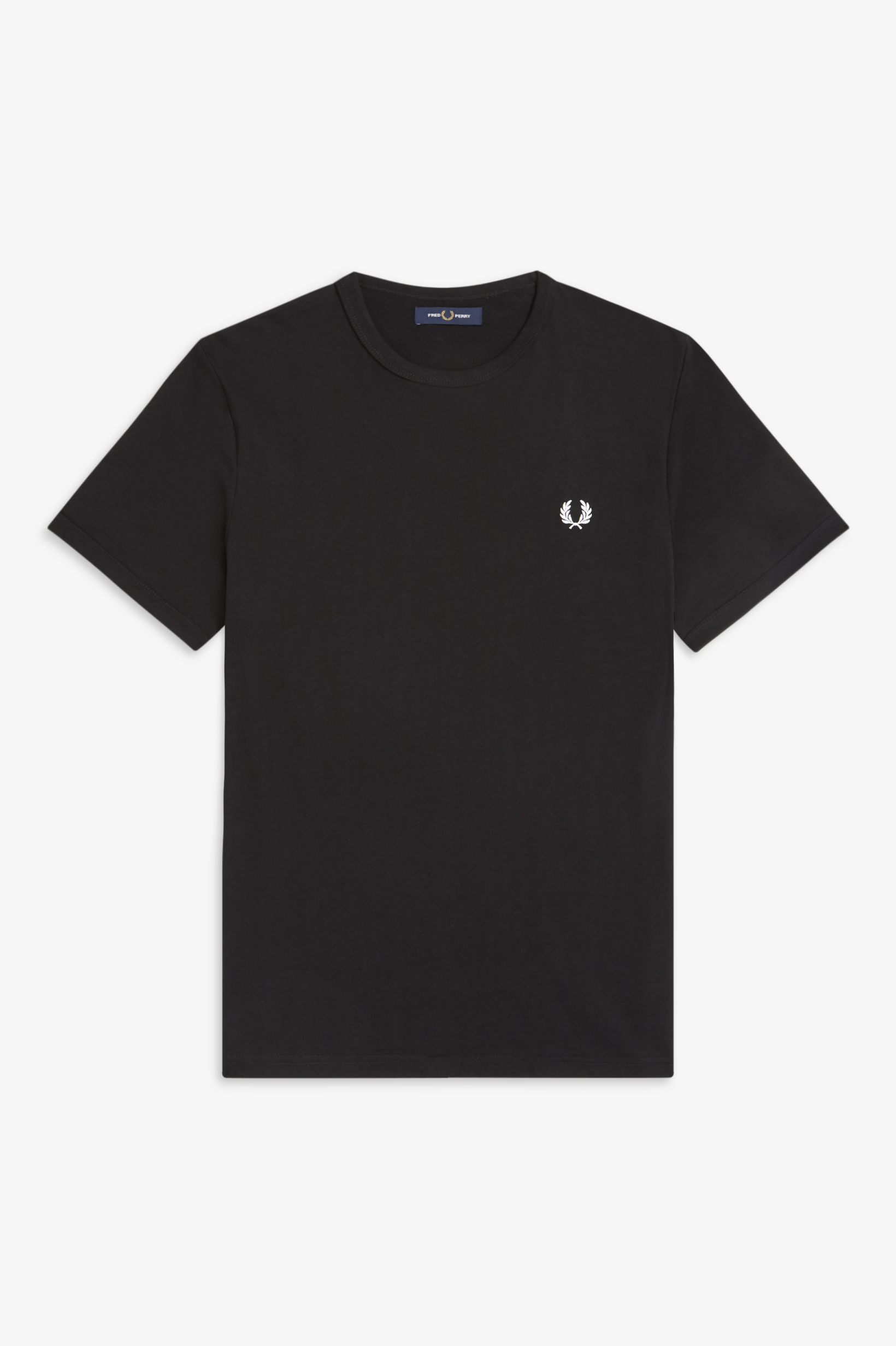 Fred Perry - RINGER T-SHIRT - Black