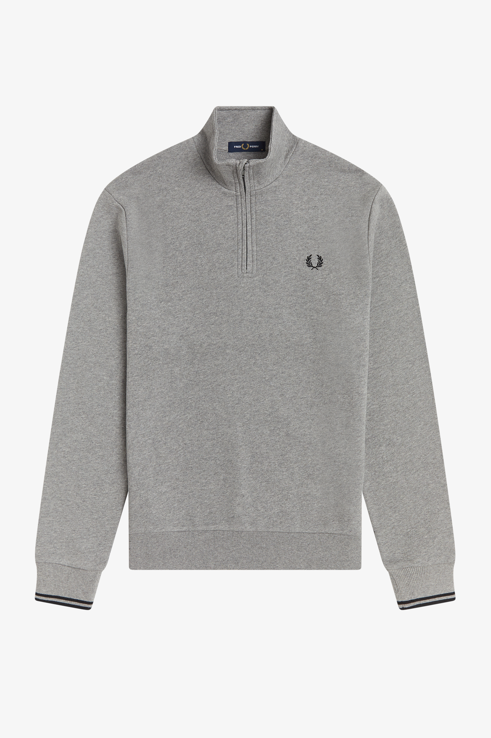 Fred Perry - HALF ZIP SWEATSHIRT - Steel Marl