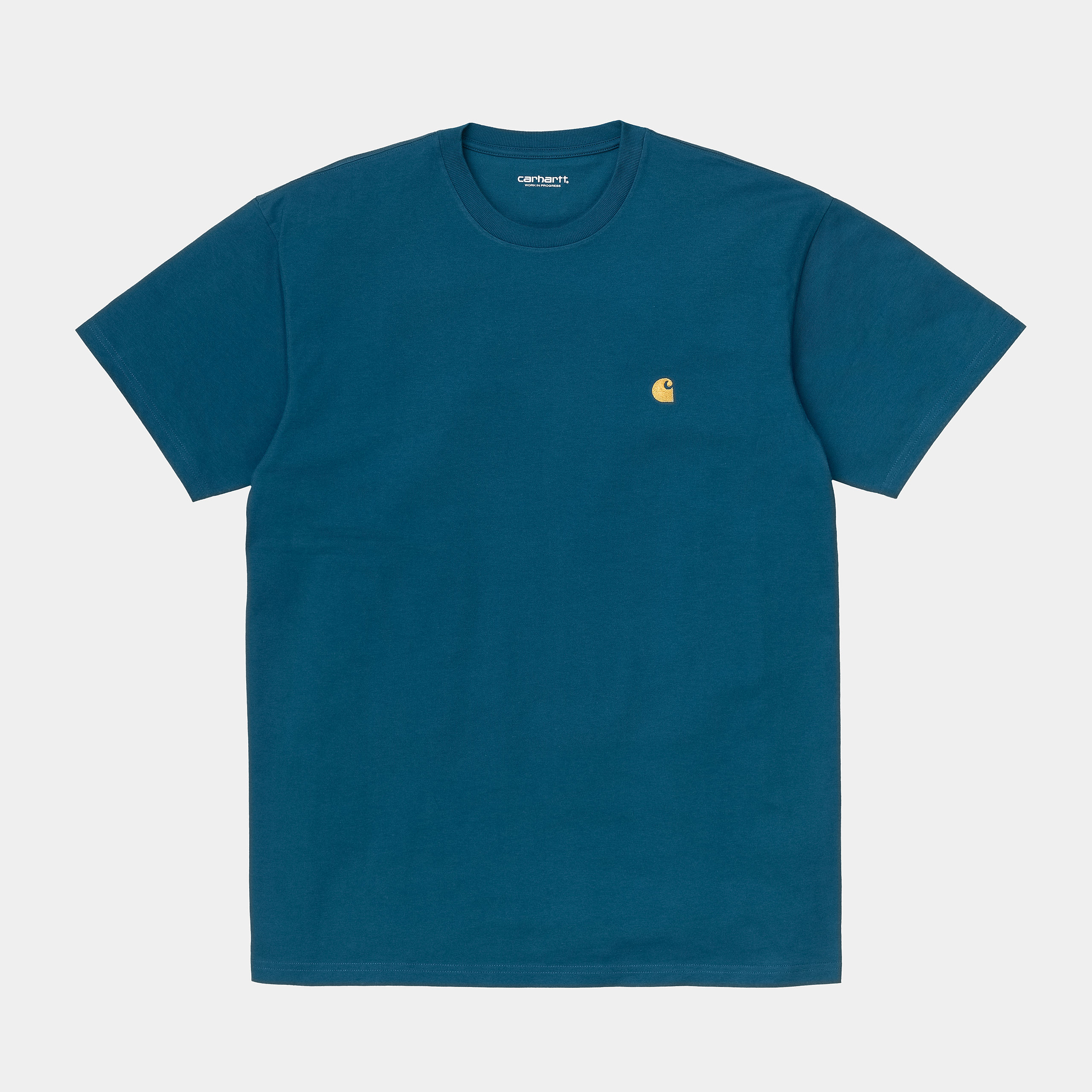 Carhartt WIP - CHASE T-SHIRT - Corse/Gold