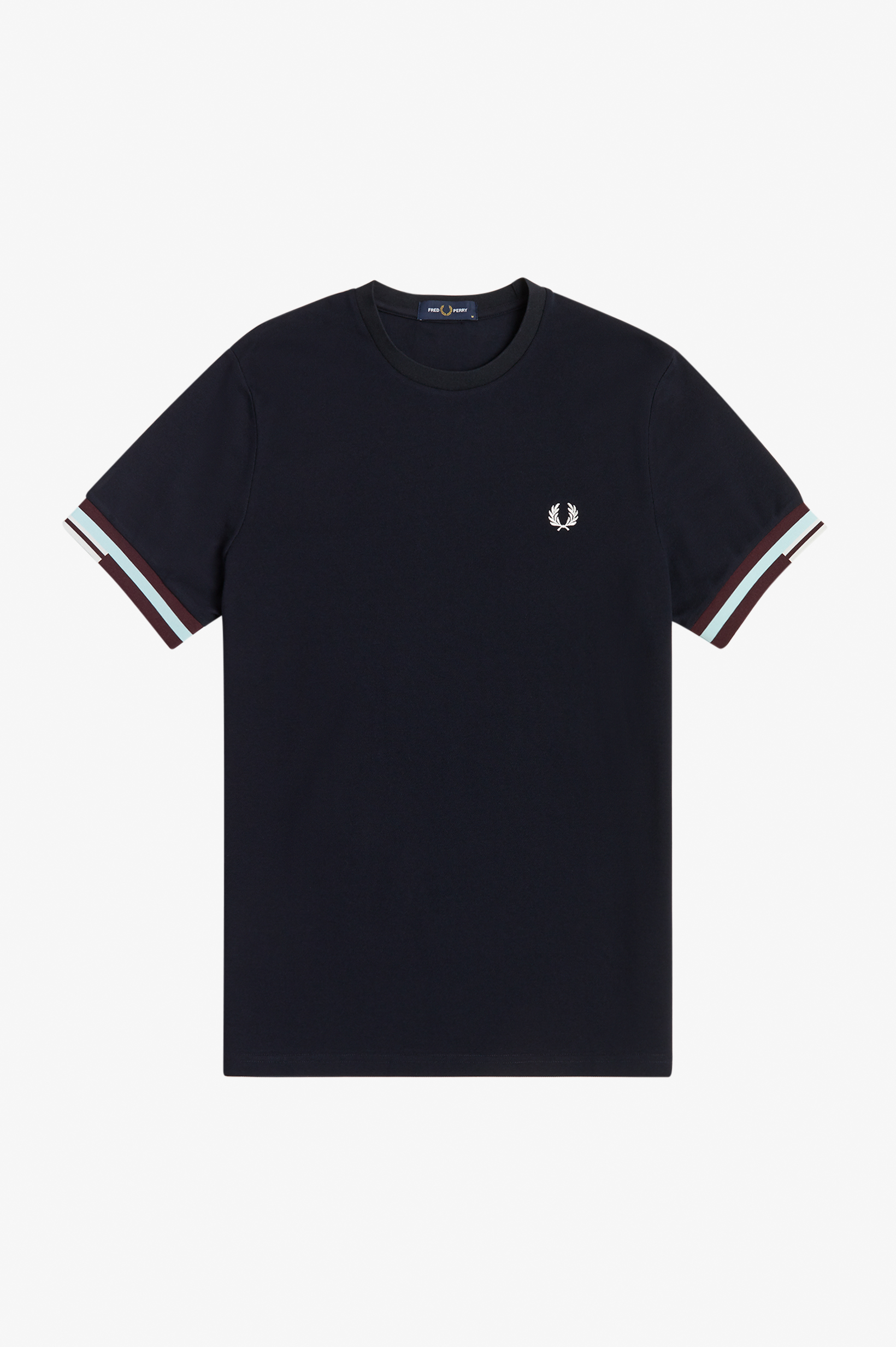 Fred Perry - ABSTRACT CUFF T-SHIRT -  Navy