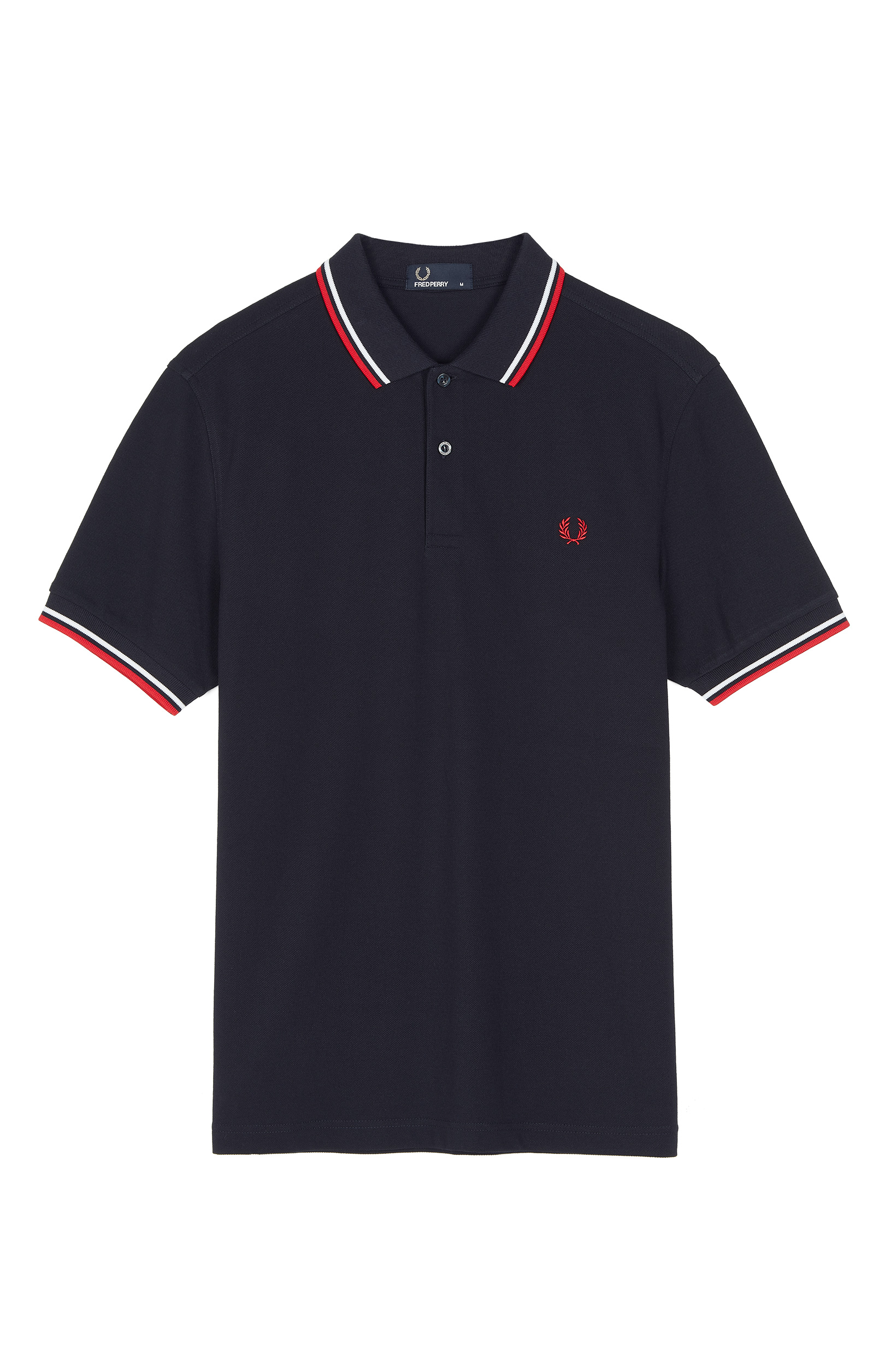 Fred Perry - TWIN TIPPED POLO SHIRT - Navy/White