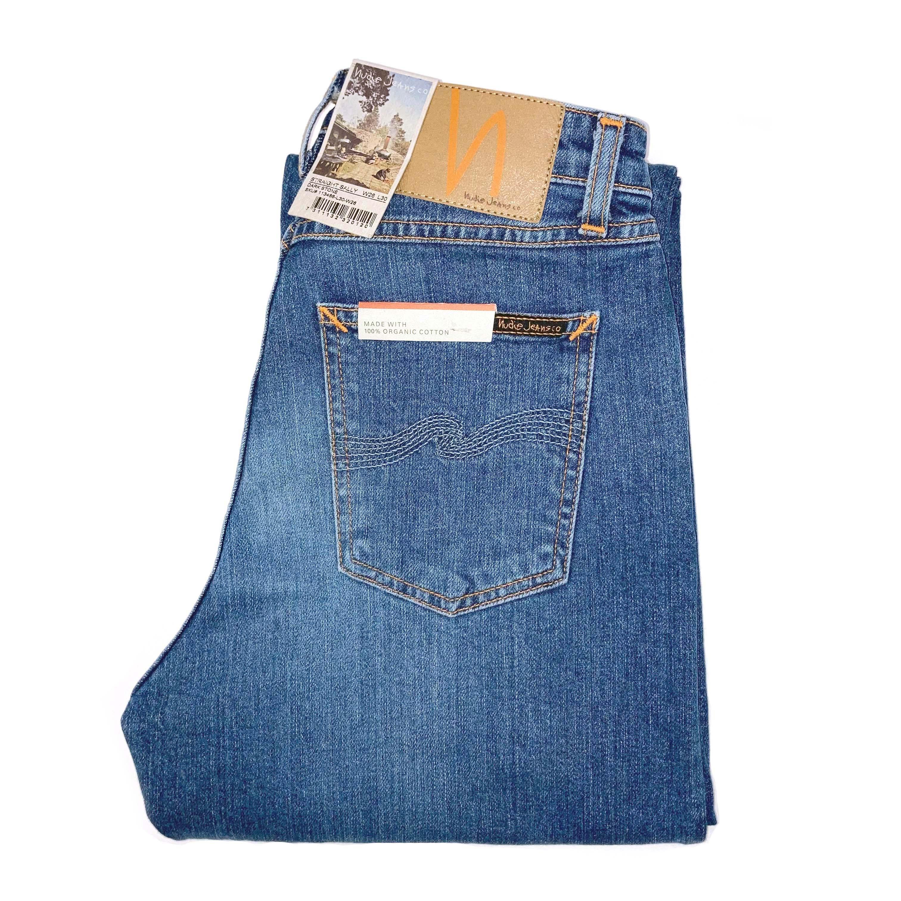 Nudie Jeans - STRAIGHT SALLY - Dark Stone