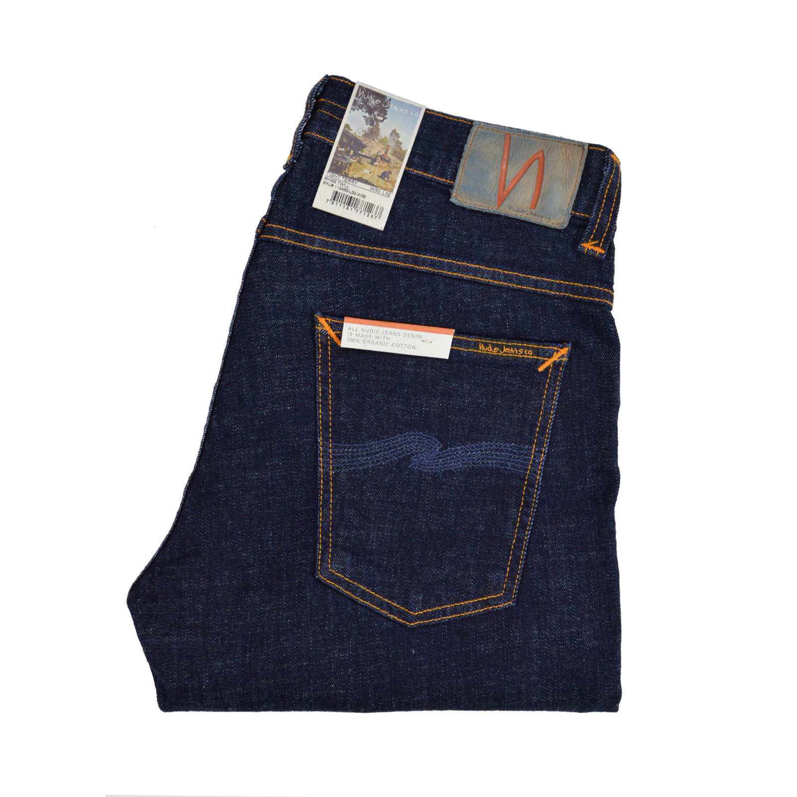 Nudie Jeans - TIGHT TERRY - Rinsed Twill