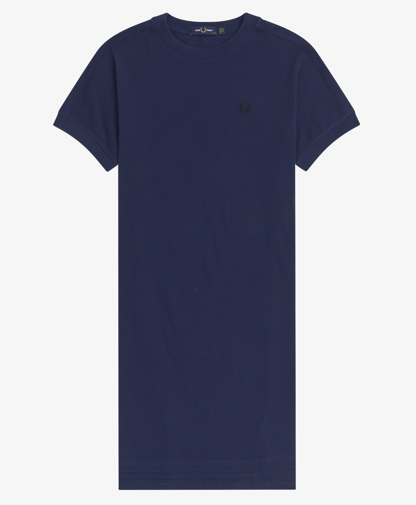 Fred Perry - BOXY PIQUE T-SHIRT DRESS - Carbon Blue