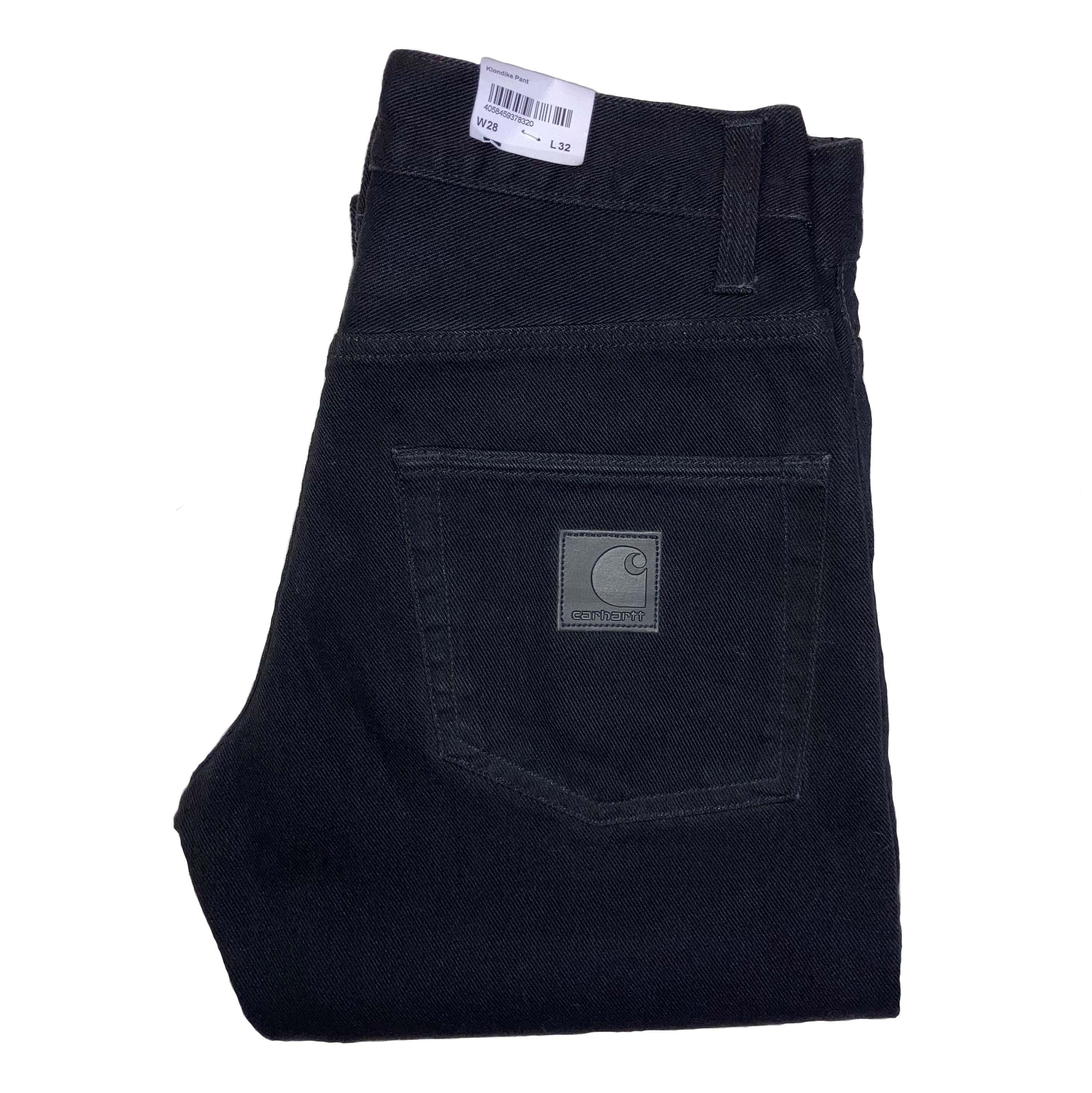 Carhartt WIP - KLONDIKE PANT - Black Rinsed