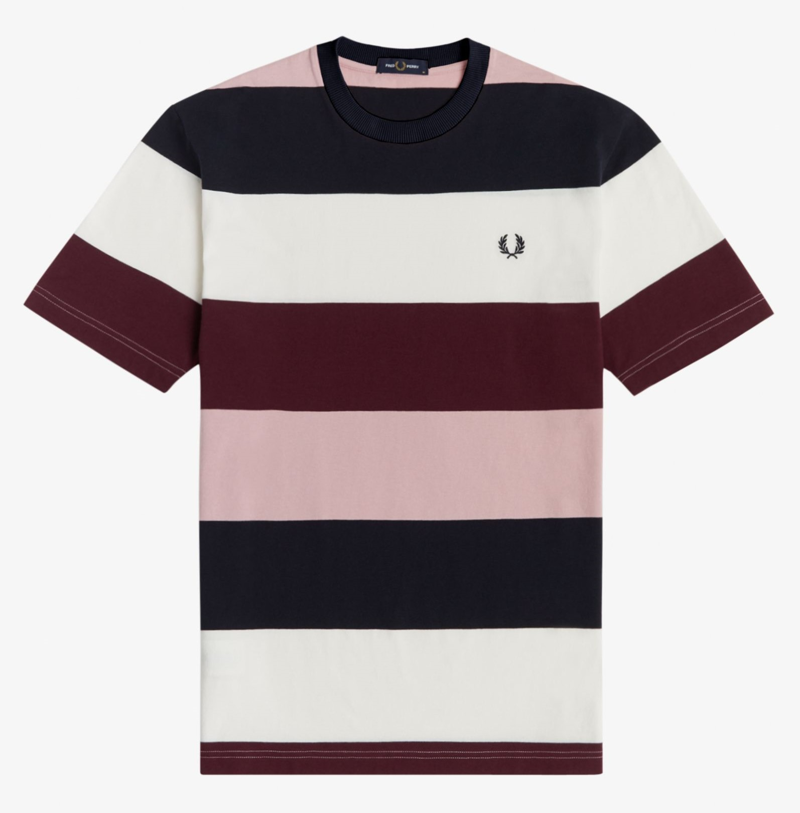 Fred Perry - BOLD STRIPE T-SHIRT - Snow White