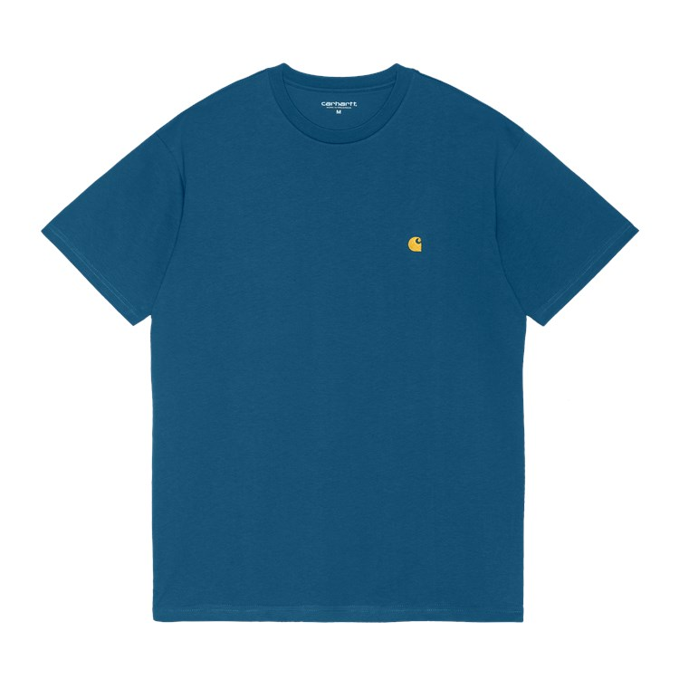 Carhartt WIP - CHASE T-SHIRT - Skydive/Gold
