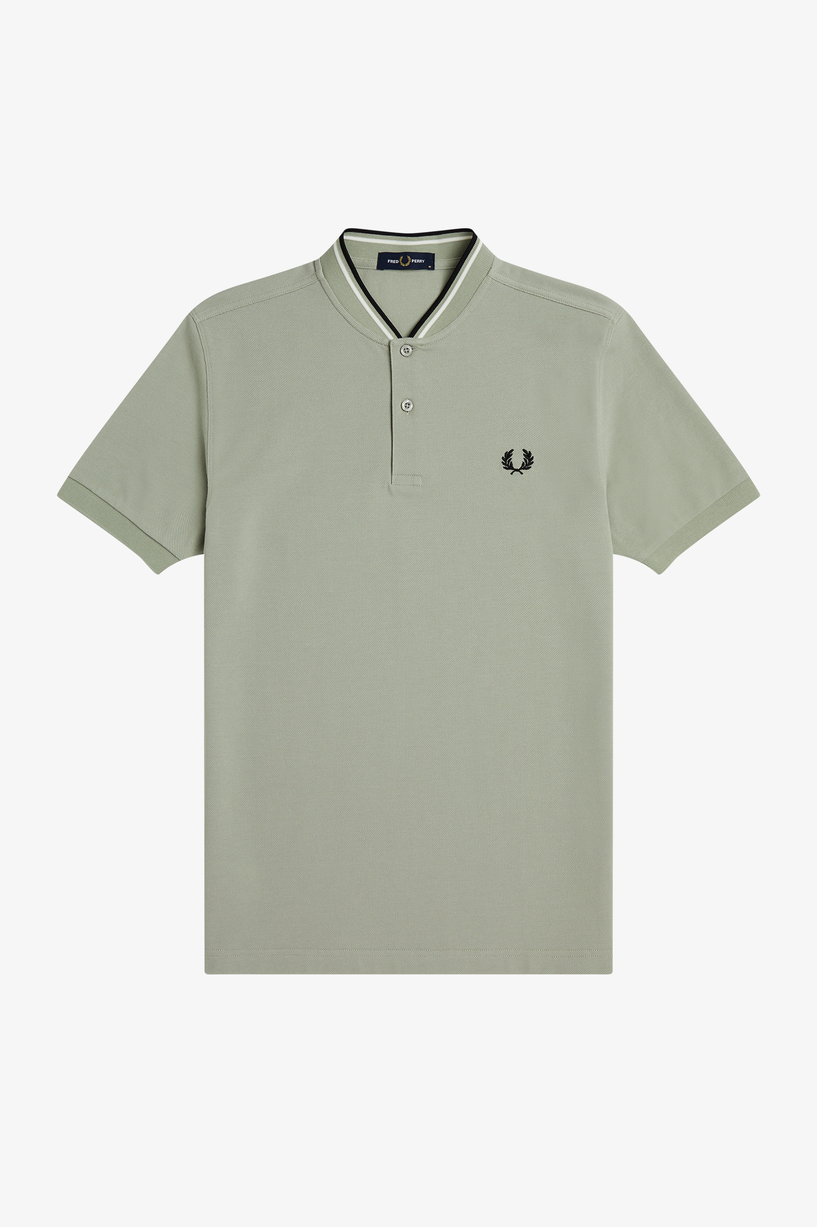 Fred Perry - BOMBER COLLAR PIQUE  POLO SHIRT - Seagrass