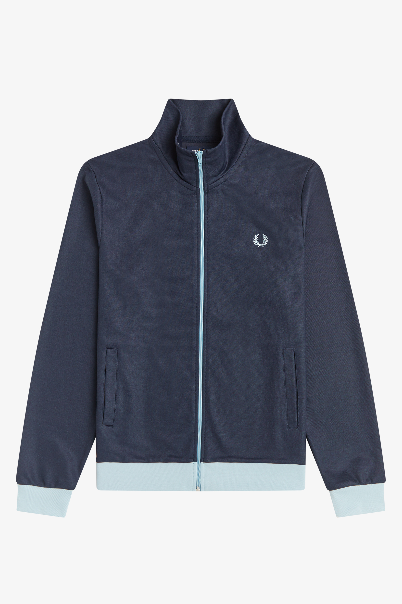 Fred Perry - CONTRAST TRIM TRACK JACKET - Dark Airforce