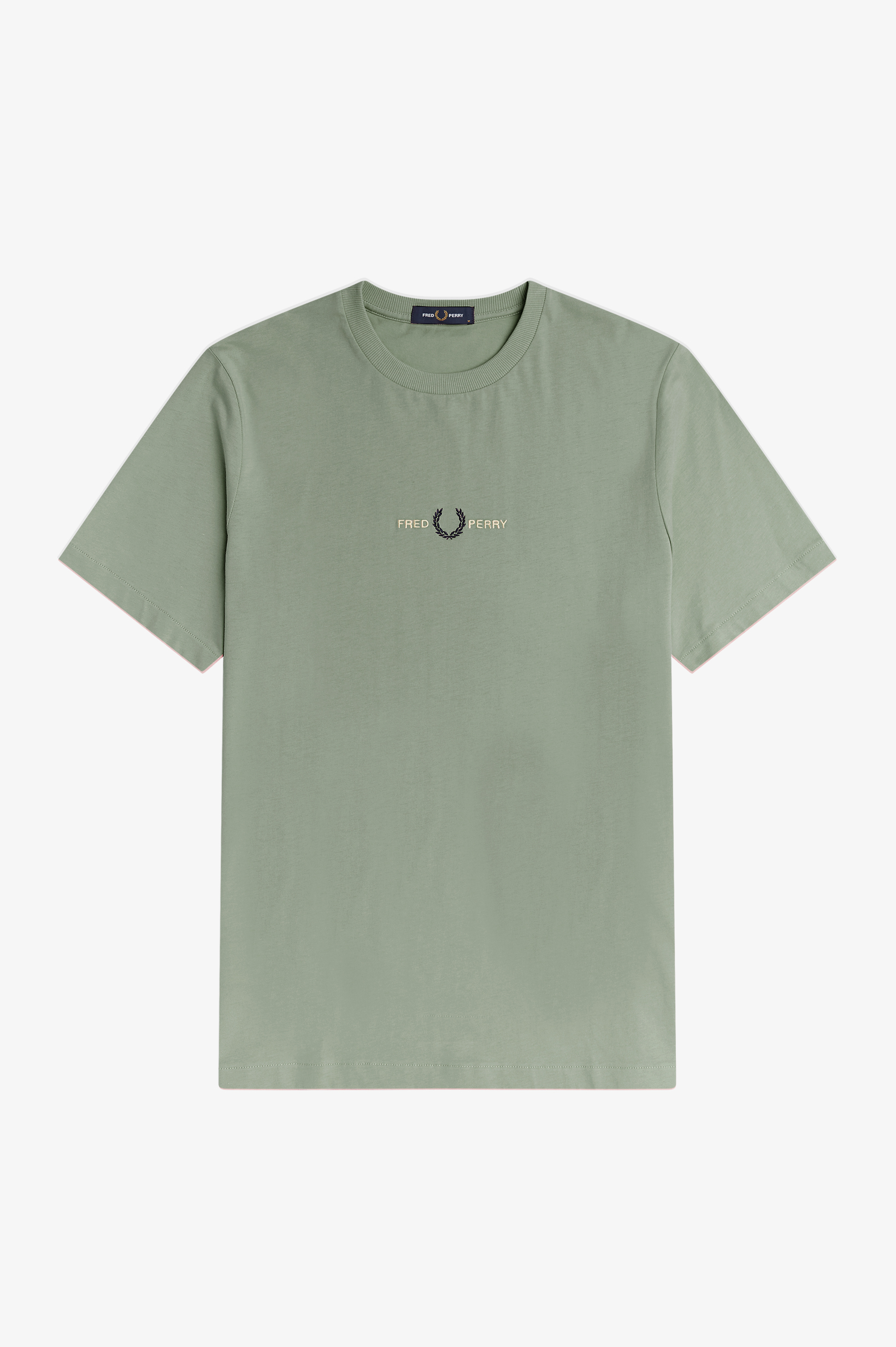 Fred Perry - EMBROIDERED T-SHIRT - Seagrass