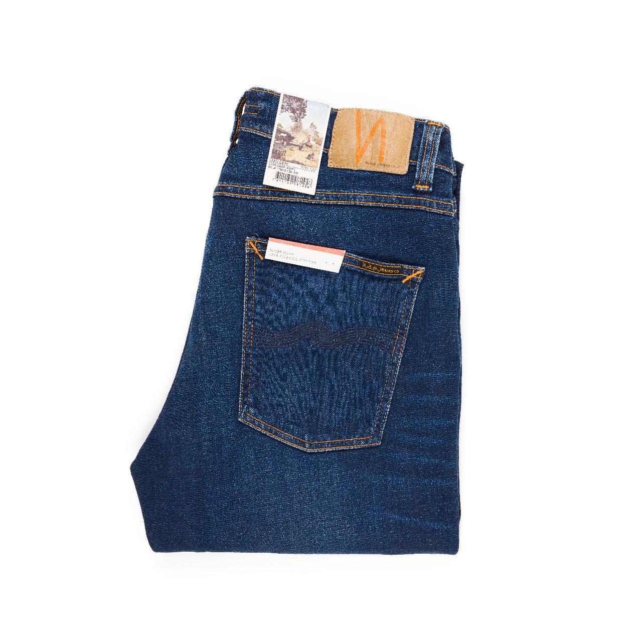 Nudie Jeans - LEAN DEAN - Dark Deep Worn