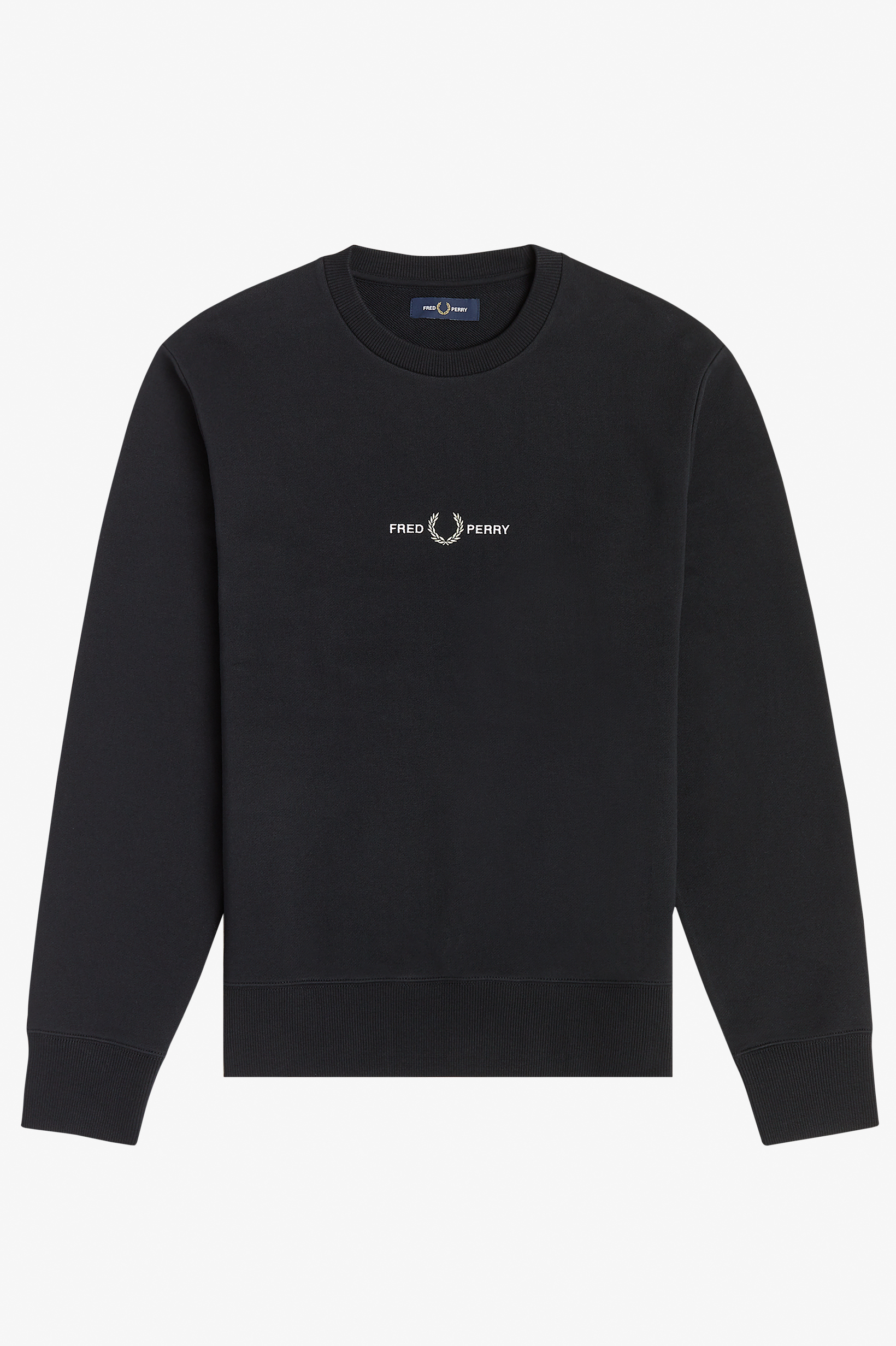 Fred Perry - EMBROIDERED SWEATSHIRT - Black
