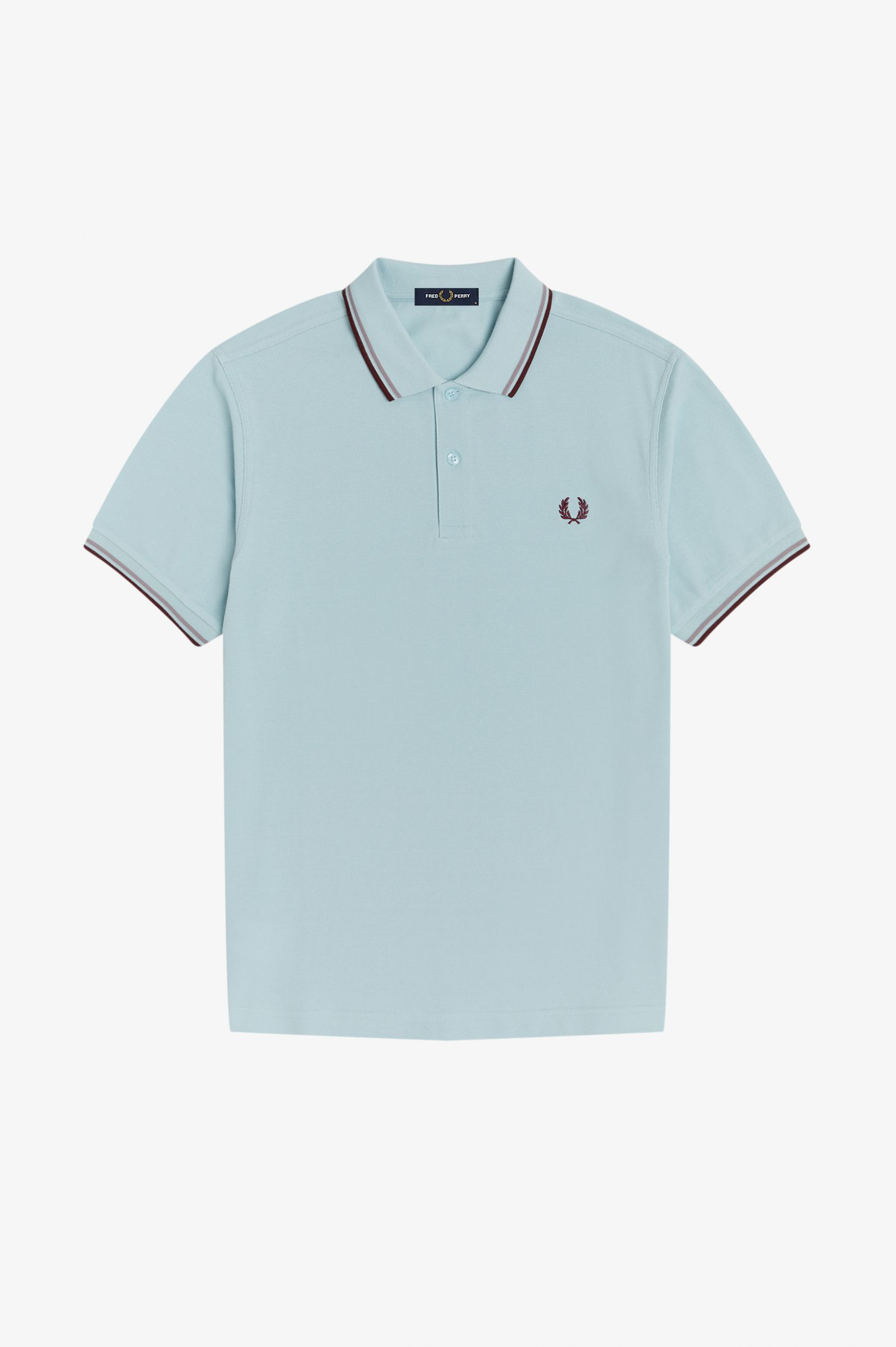 Fred Perry - TWIN TIPPED POLO SHIRT - Chalk Blue