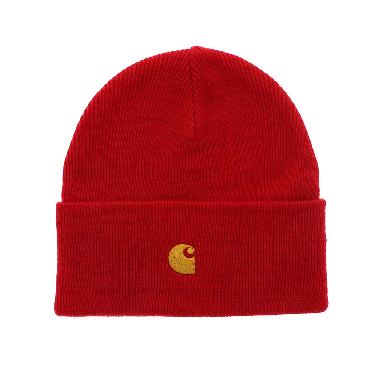 Carhartt WIP - CHASE BEANIE - Etna Red/Gold