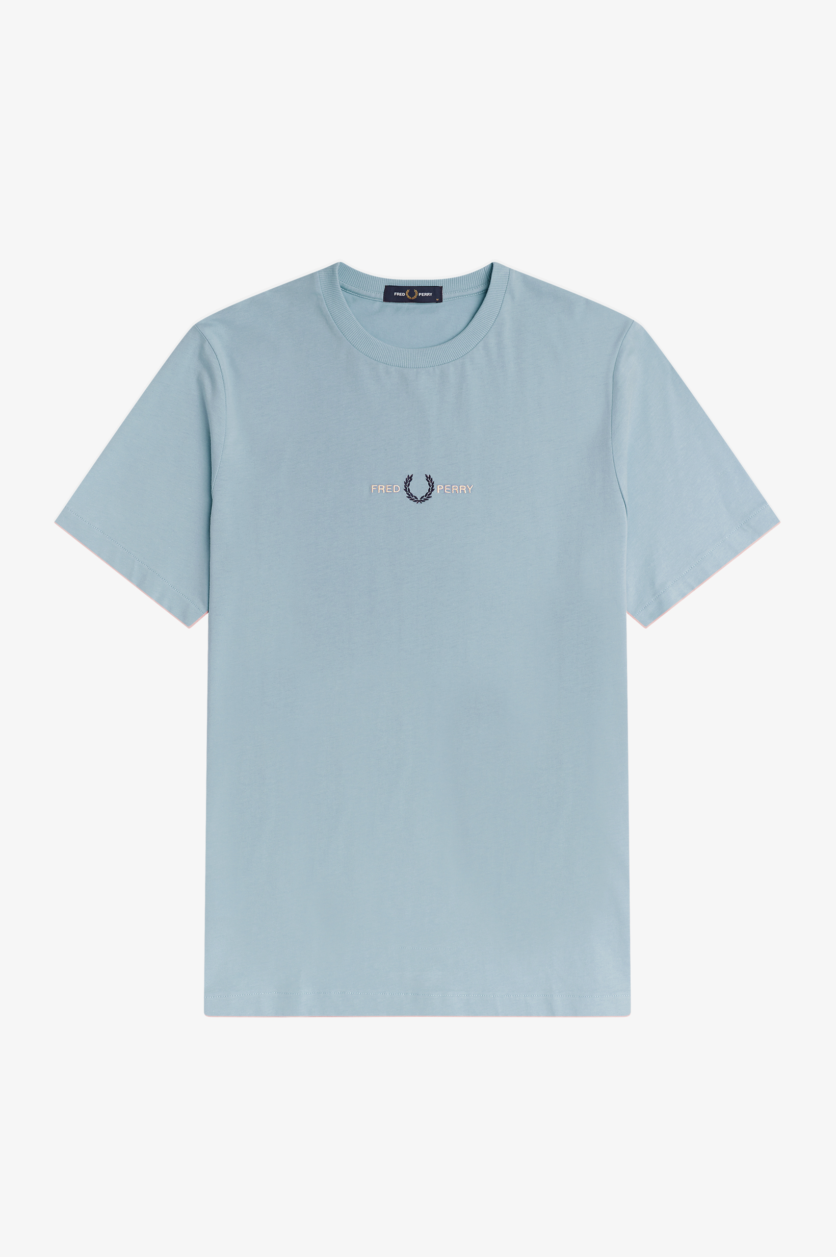 Fred Perry - EMBROIDERED T-SHIRT - Chalk Blue