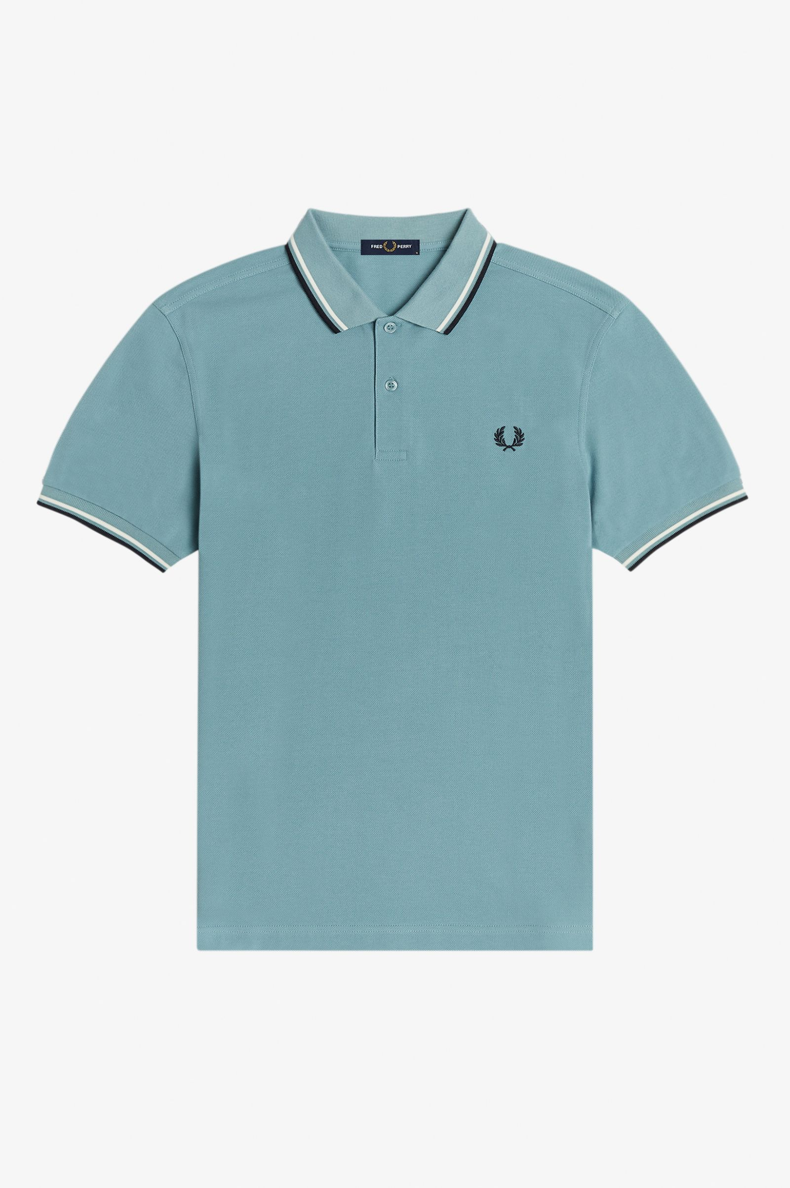 Fred Perry - TWIN TIPPED POLO SHIRT - Smoke Blue