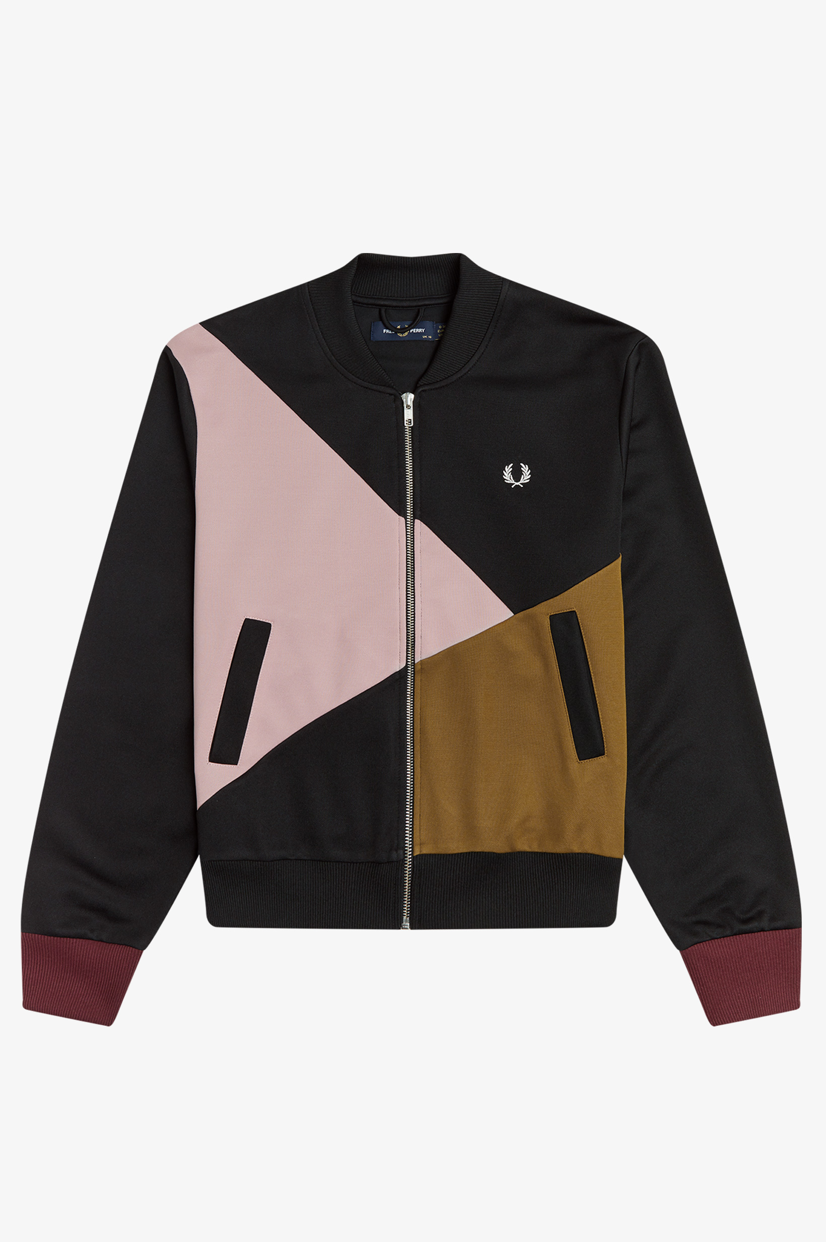 Fred Perry - COLOURBLOCK TRICOT TENNIS BOMBER - Black
