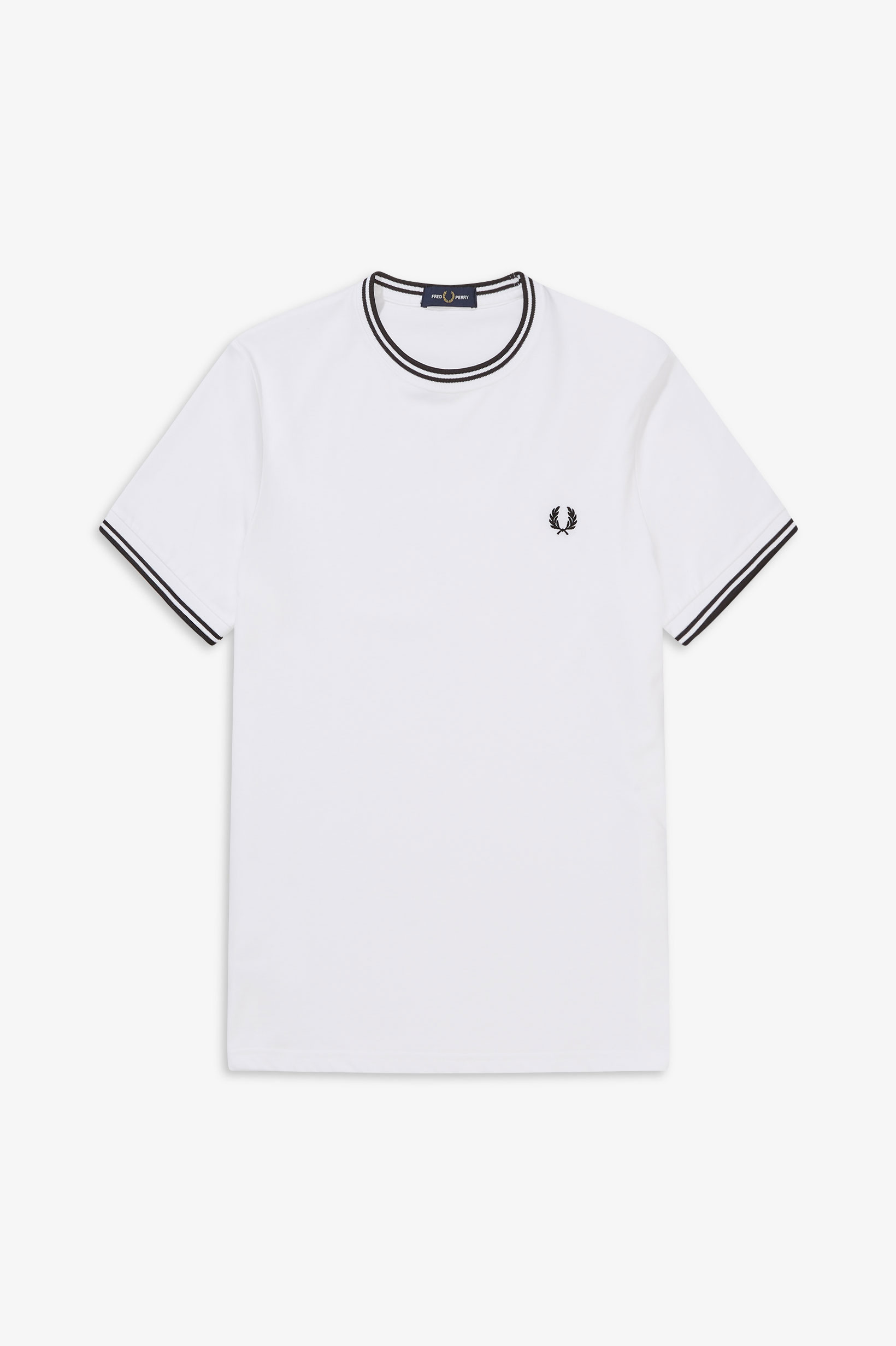 Fred Perry - TWIN TIPPED T-SHIRT - White