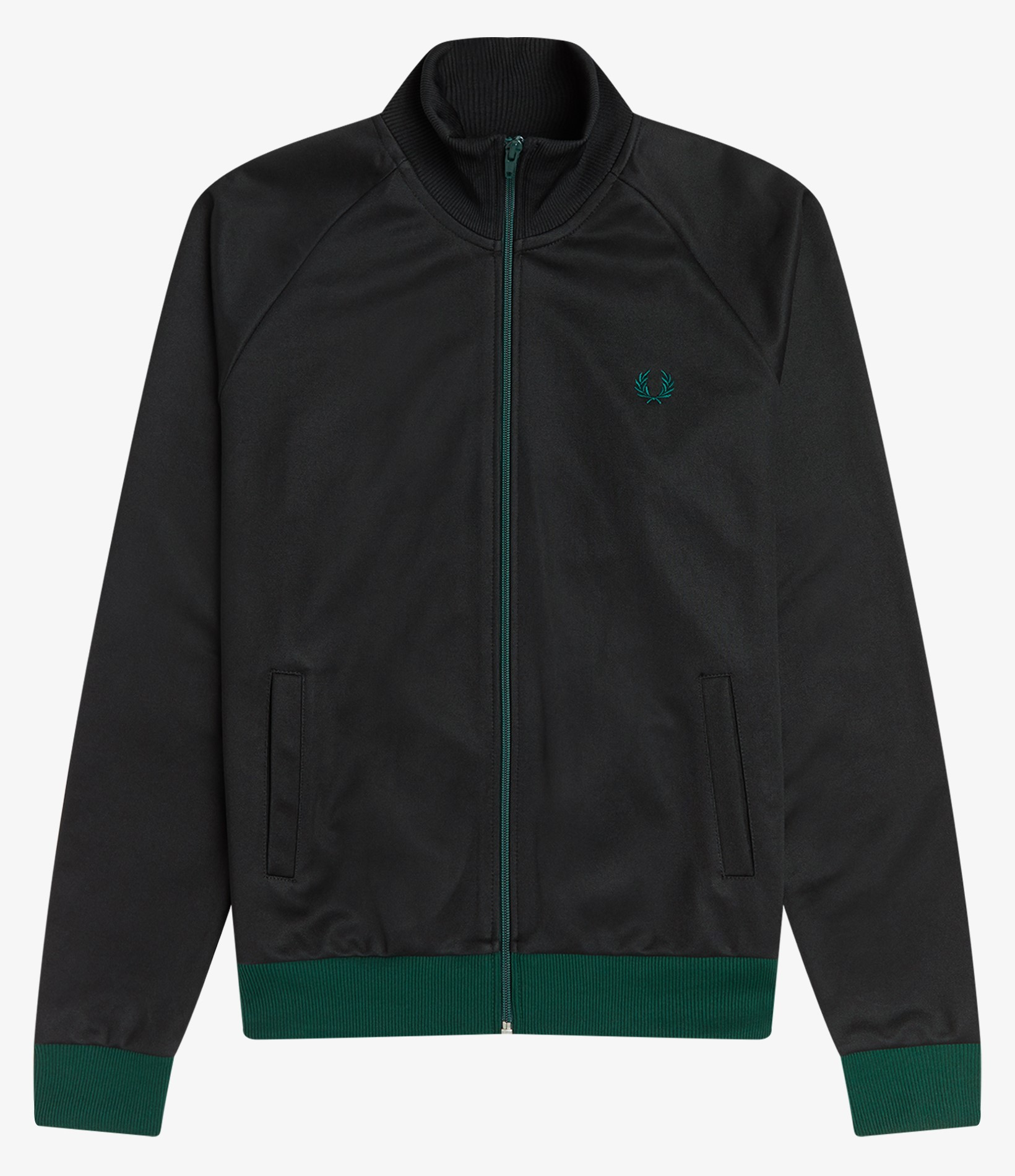 Fred Perry - CONTRAST TRIM TRACK JACKET - Black