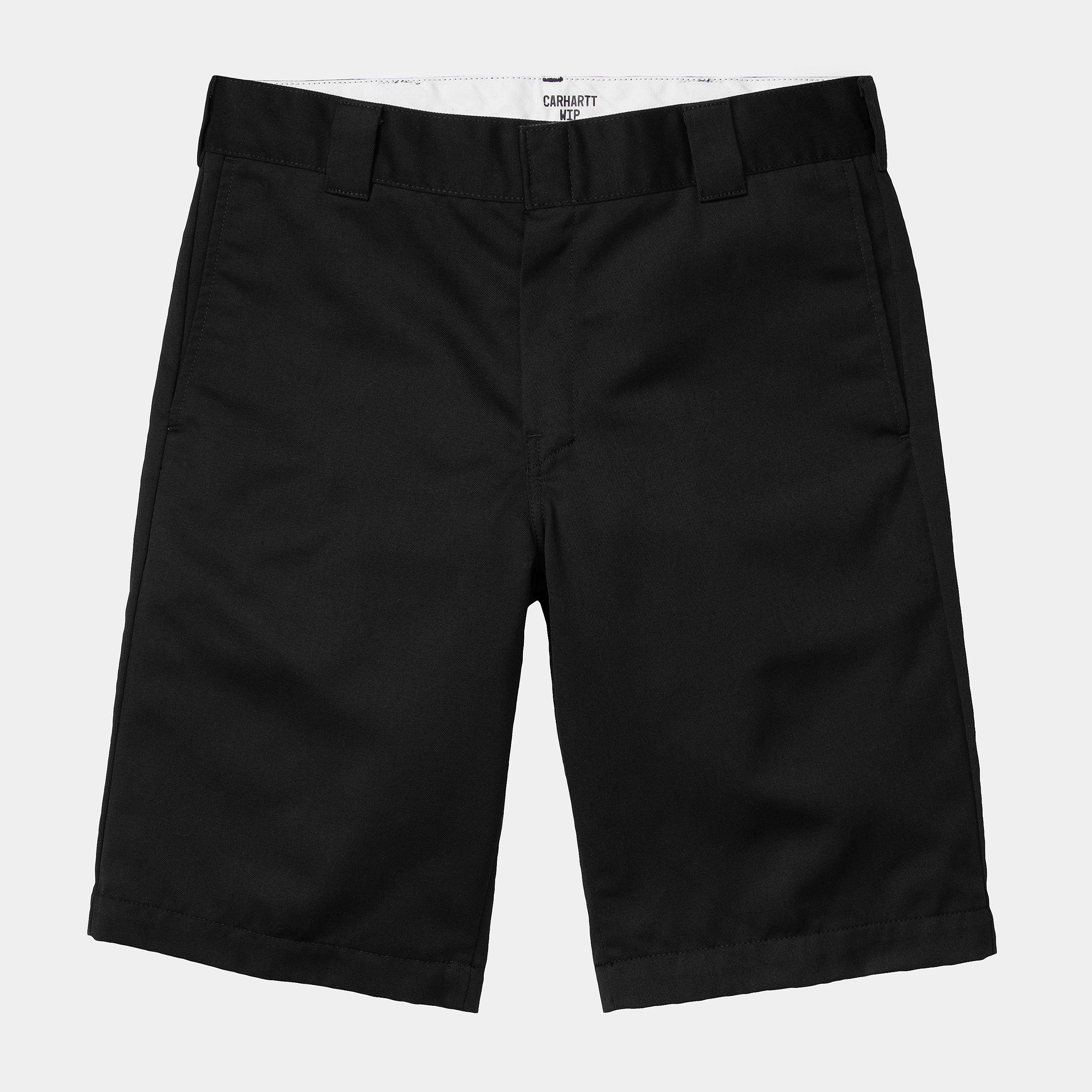 Carhartt WIP - MASTER SHORT - Black Rinsed