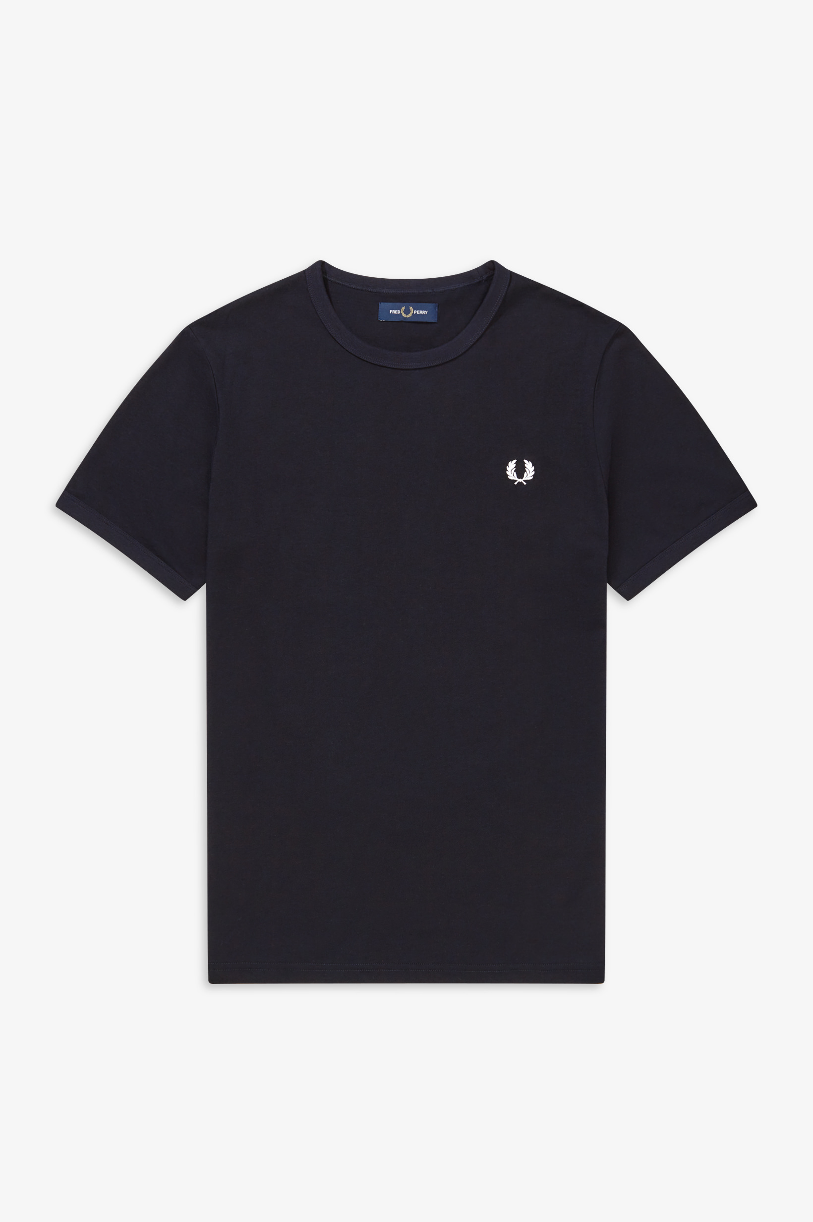 Fred Perry - RINGER T-SHIRT - Navy