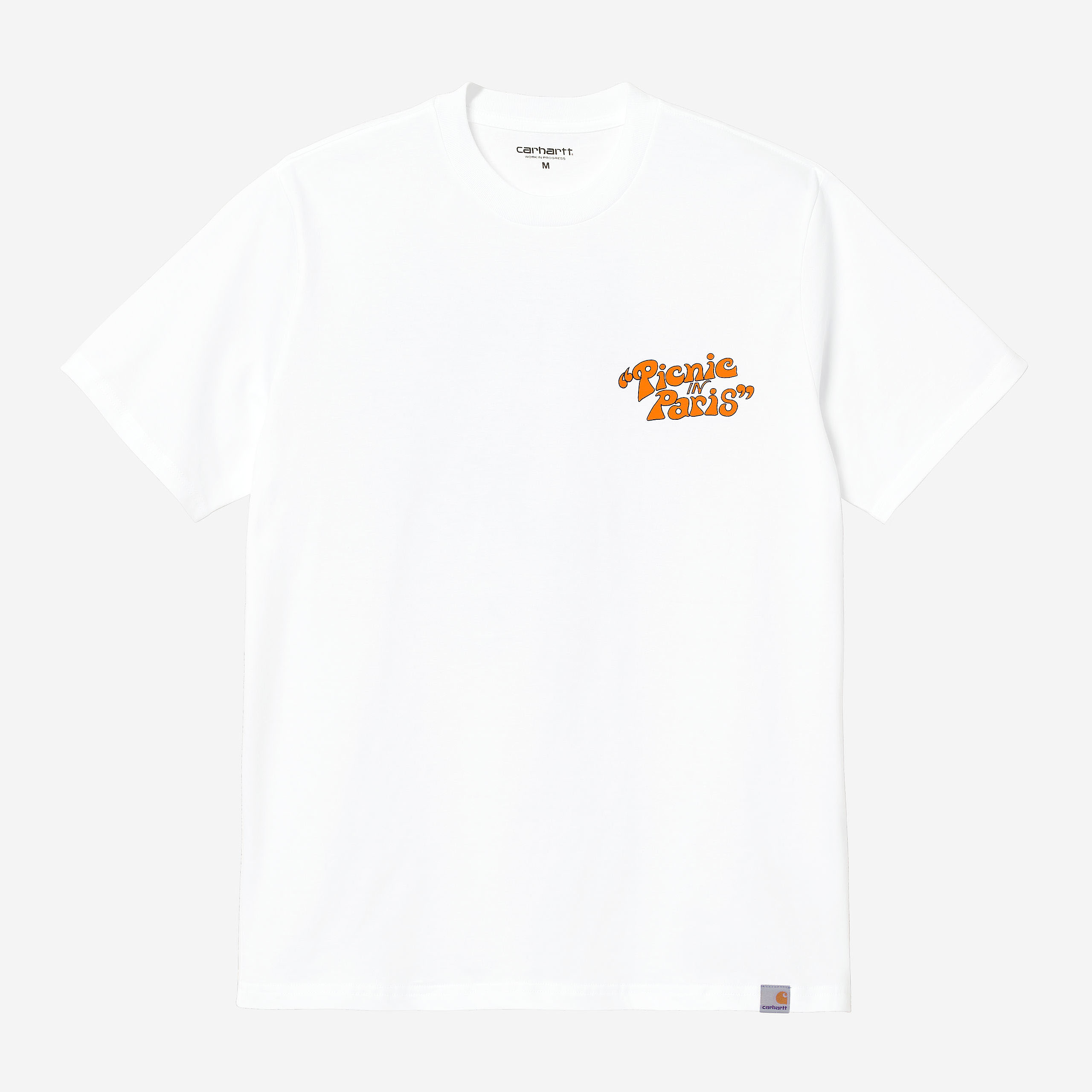 Carhartt WIP - PICNIC IN PARIS  T-SHIRT - White