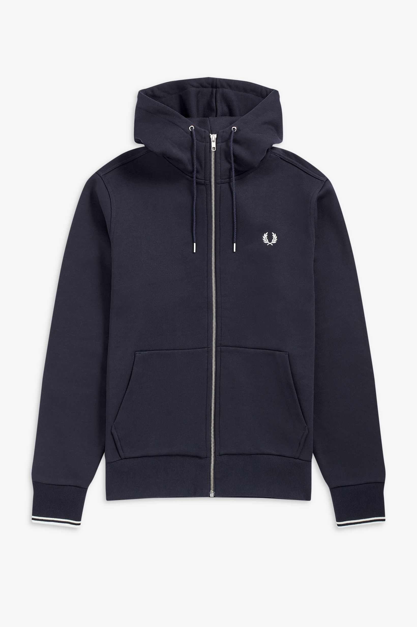 Fred Perry - HOODED ZIP TROUGH - Navy